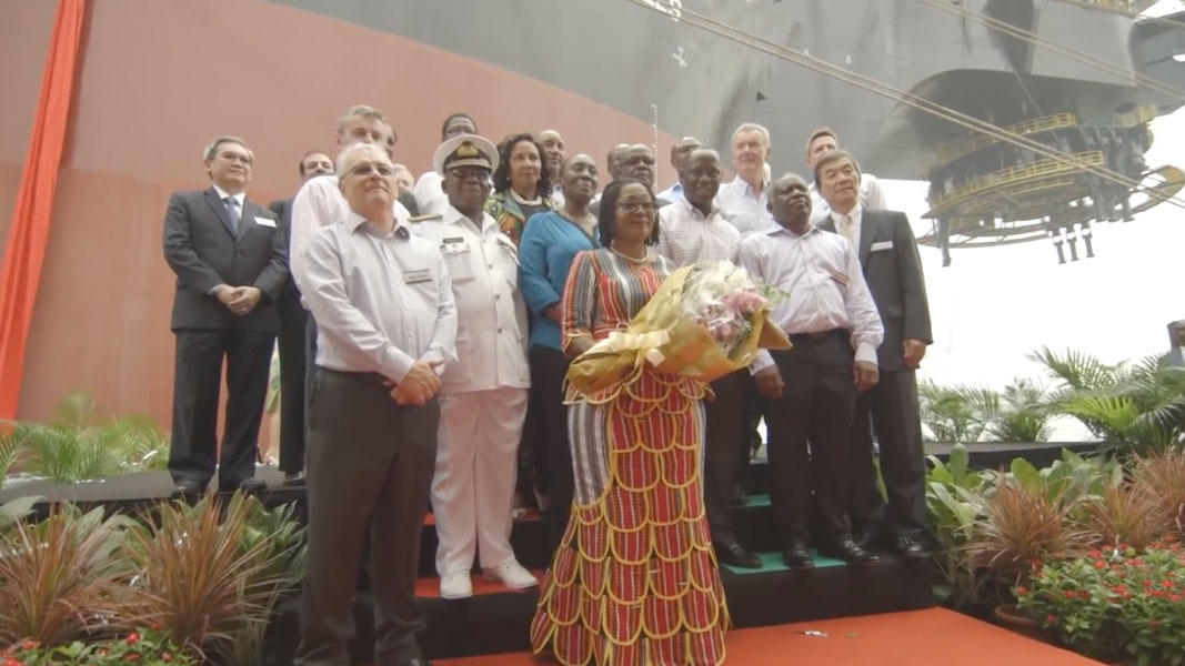 TEN Project FPSO Naming Ceremony
